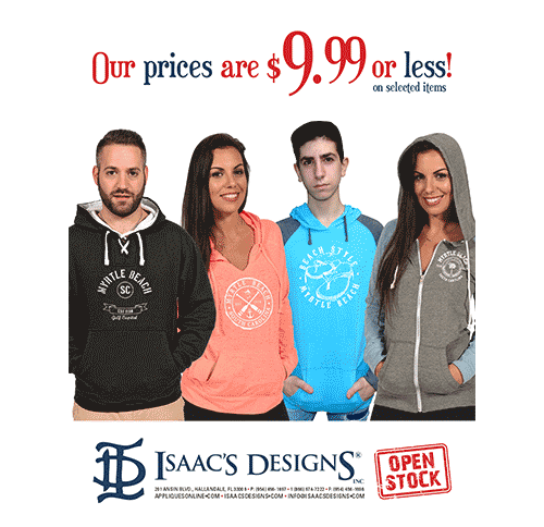 "Isaac's Designs<br>2019 ""$9.99 or Less"" Brochure"
