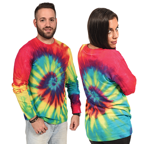 "7044 Long Sleeve""Unisex"" Multi Tie-Dye Jersey"
