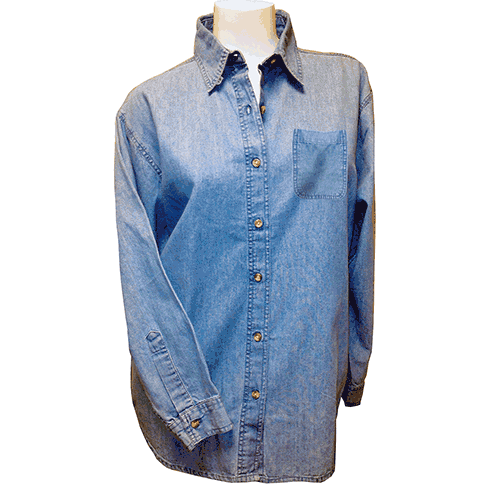 D5000<br>Long Sleeve Denim Button Down Shirt