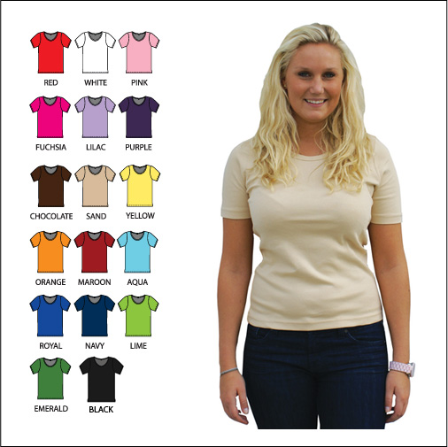 K103  Scoop Neck Short Sleeve Shirt