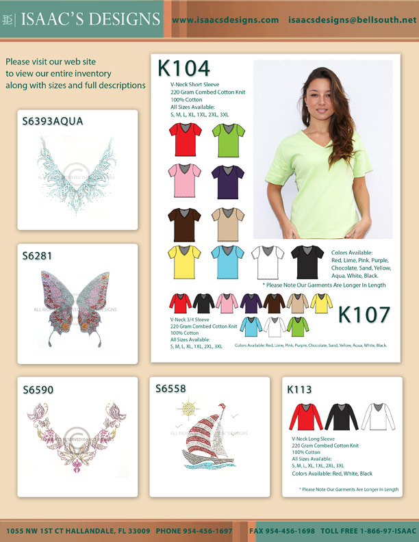 K104 V-Neck Top and Some Stones Designs