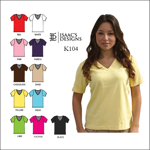 K104  V-Neck short Sleeve Shirt