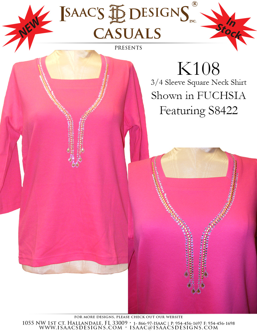 K108 in FUCHSIA featuring our S8422 Design(5-31)