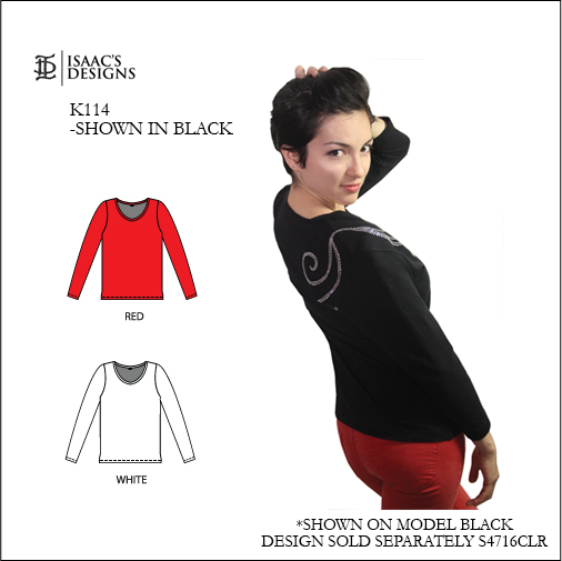 K114-LONG SLEEVE, SCOOP NECK. CLOTHING, CLOTHES, APPAREL