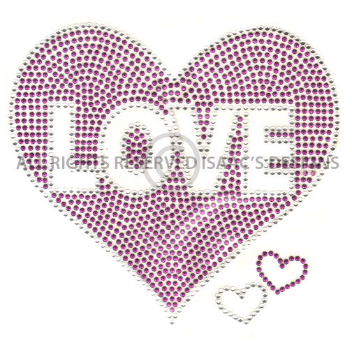 S100015-PURPLE-LOVE INSIDE HEART, KIDS, HEARTS