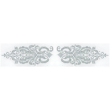 S100524   - CLEAR CURVED BOTTOM DECORATION