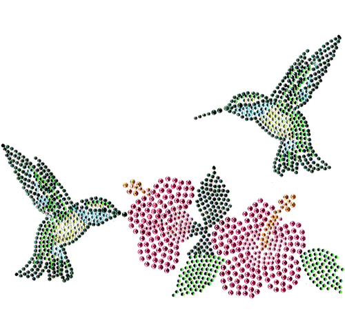 S101095 - Green Hummingbirds & Pink Cayennes