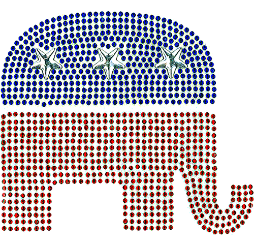 S101097MD - Republican Elephant (Medium)