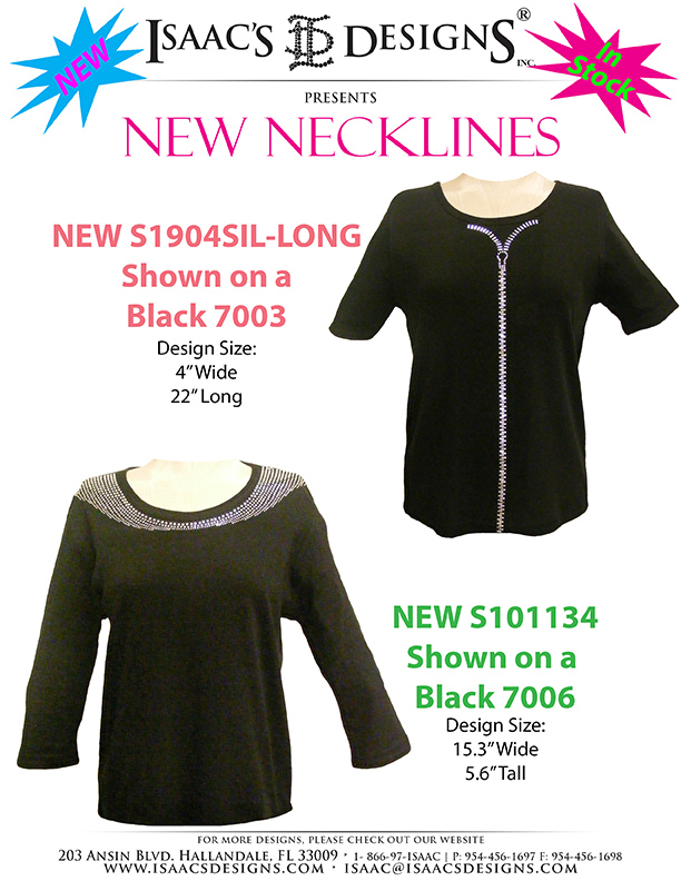 NEW NECKINES  -  S1904SIL-LONG (6-3)& S101134(6-14)
