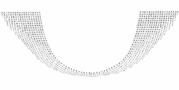 "S101134 - ROUND SCOOP NECK LINE IN CLEAR STONES W:15.3"" X H:5.6"""