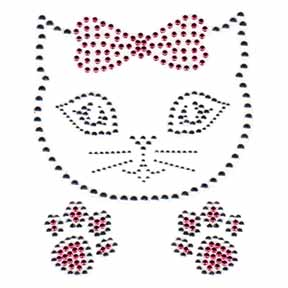 S101137-PINK  -  CAT WITH BOW (KIDS)