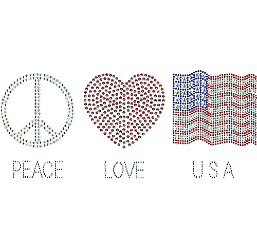S101162-USA - Peace Love USA