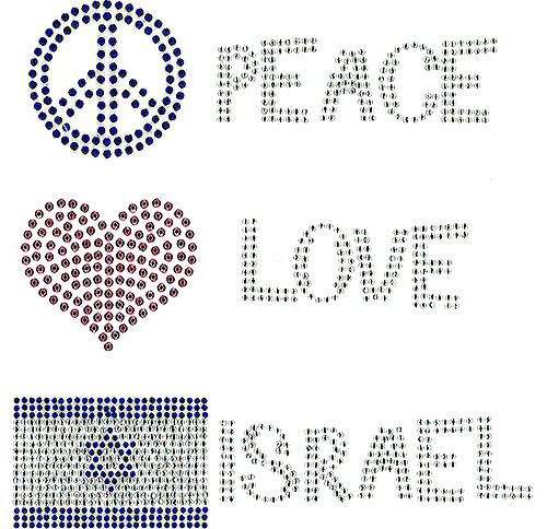 S101163-ISR - Peace Love Israel