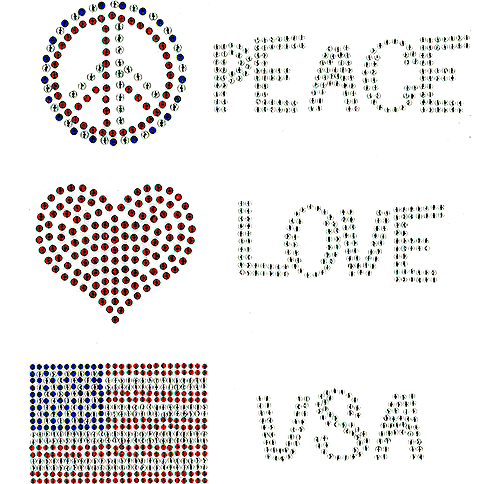 S101163-USA - Peace Love USA
