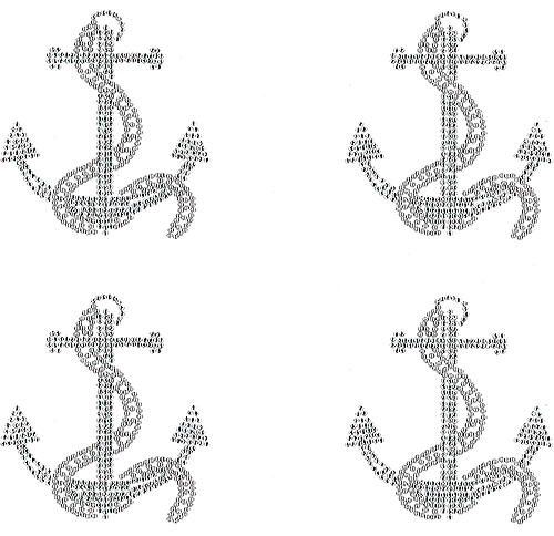 S101181SM-CLR<br>Clear Anchor w/Silver Rope (Small)