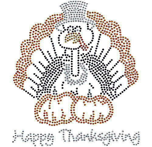 S101285<br>&quot;Happy Thanksgiving&quot; Pilgrim Turkey