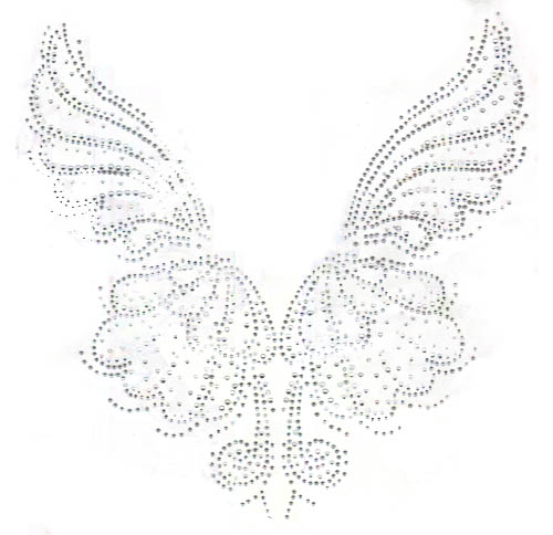 S101387L-CLR<br>Large Silver Shell/Butterfly Wings Panels