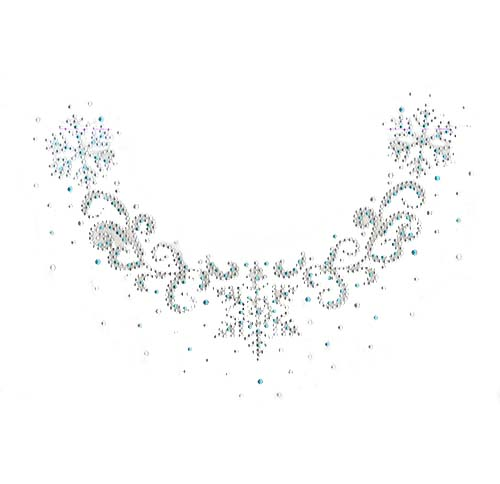 S101433<br>Aqua & Clear Wintry Scoop-Neckline