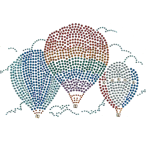 S101686-FULL - Colorful Hot Air Balloon Trio