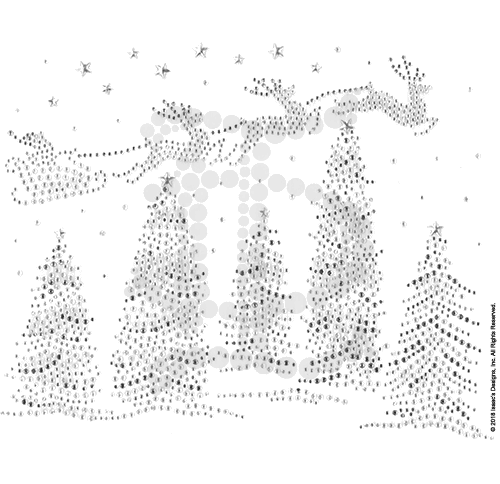 S101726-BDI<br>Santa Sleigh over Winter Trees