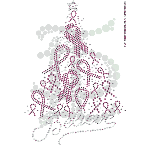 S101727<br>Pink Ribbon-Decorated Xmas Tree