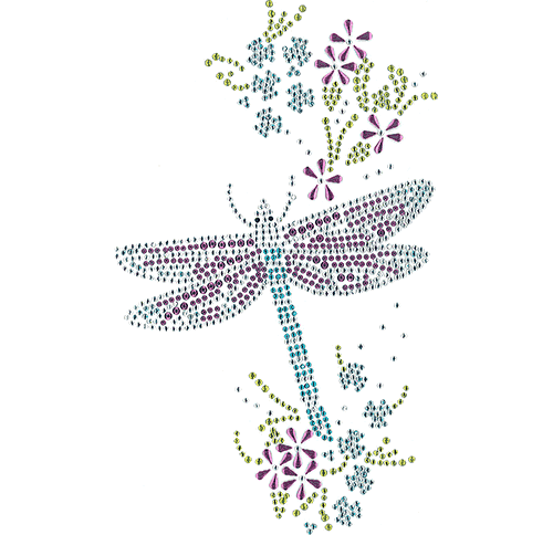 S102022<br>Dragonfly & Flowers