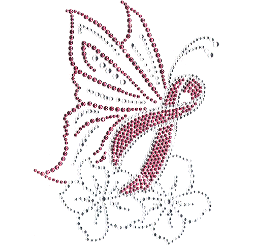 S102070 - Pink Butterfly Ribbon