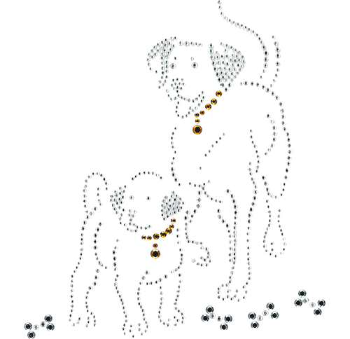 S1022361SM<br>Dog with Puppy & Bones