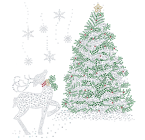 S102308<br>Reindeer & Christmas Tree