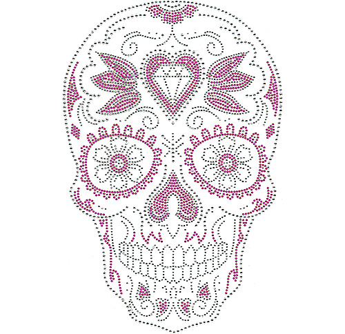 S110112 - Diamond-in-Heart Skull