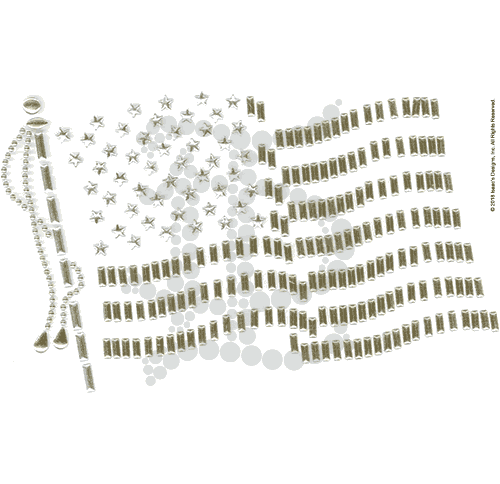 S1213-SG<br>Gold & Silver USA Flag