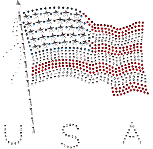 S1213-SIL<br>Silver USA Flag