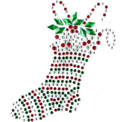 S1330<br>Christmas Stocking with Candy Canes