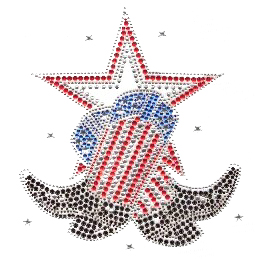 S1332-USA  Americana Cowboy Boots Star