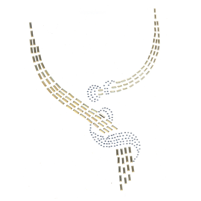 S1360GLD  Gold & Clear Scoop Neckline