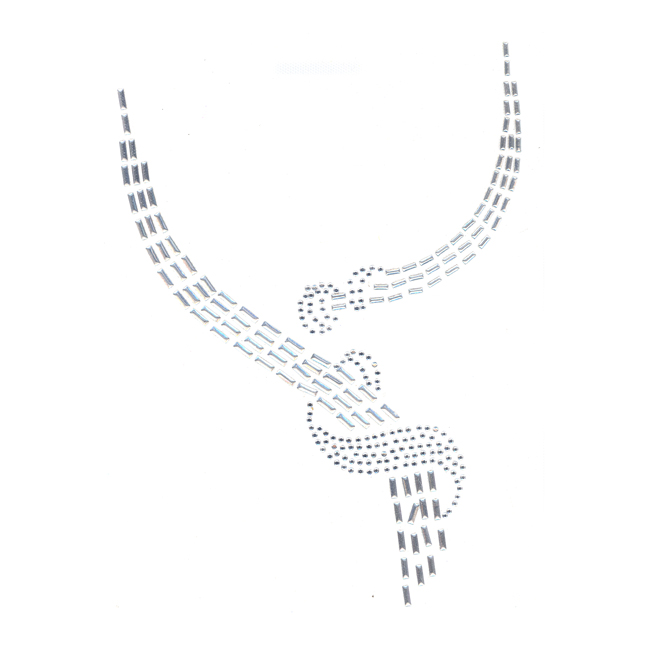 S1360SIL  Silver & Clear Scoop Neckline