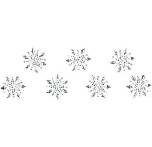 S1461<br>Clear & Silver Small Snowflakes 7pc Set