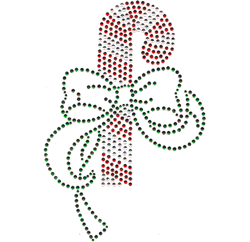 S1476L<br>Large Christmas Candy Cane with Bow