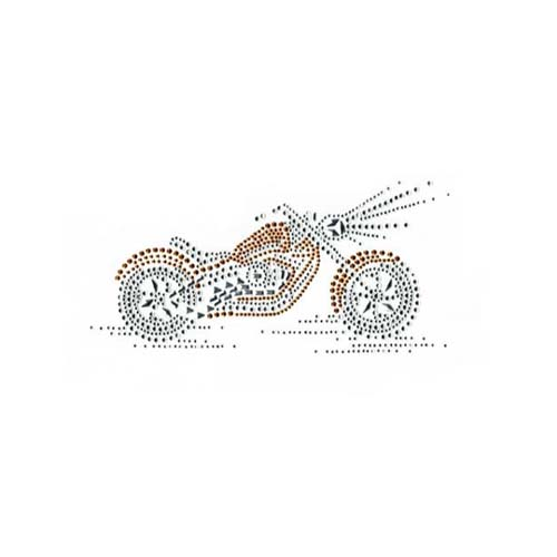 S1834SG - SMALL GOLD MOTORCYCLE