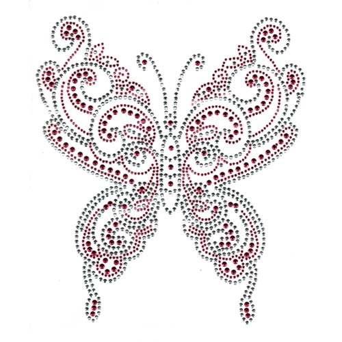 S1882-PINK - LARGE PINK BUTTERFLY, BUTTERFLIES