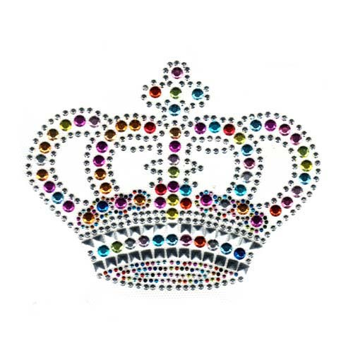 S2002-CROWN WITH COLORFUL STUDS & SQUARE NAILHEADS