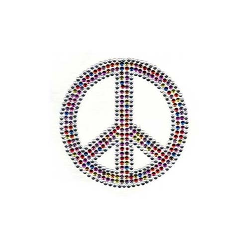 S2010BS - SMALL COLORFUL PEACE SYMBOL