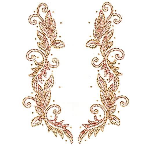 S2144-COP  Floral Copper/Gold Decor