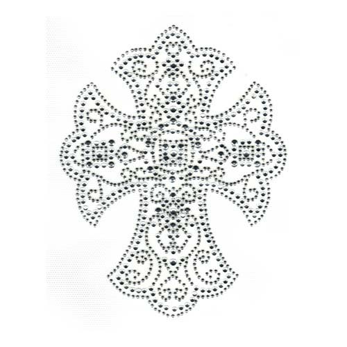S2325C- CLEAR SILVER  CROSS