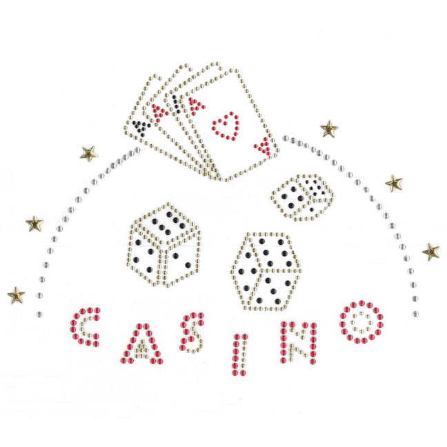S2619 - CASINO, 3 dice & deck of cards
