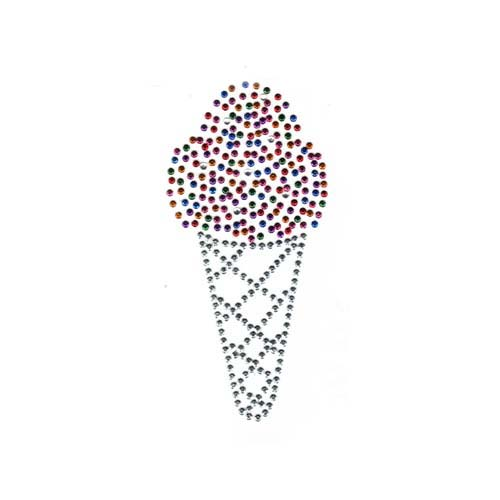 S2631-MIX - Ice cream cone with colorful scoop (kids)WAS S2631C