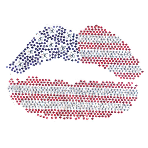 S2779   USA Flag Lips
