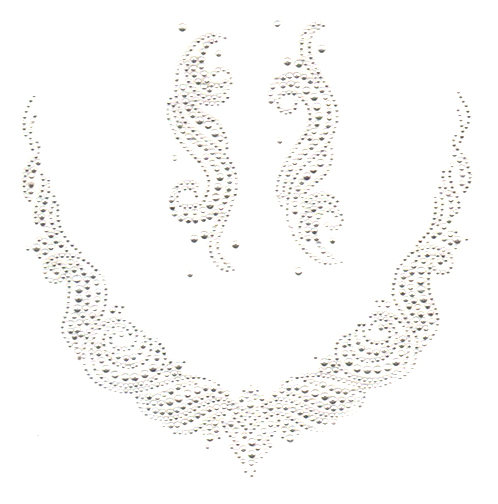 S2792CLR- CLEAR WAVE SCOOP NECKLINE WITH ACCENT PIECES, NECK (1-