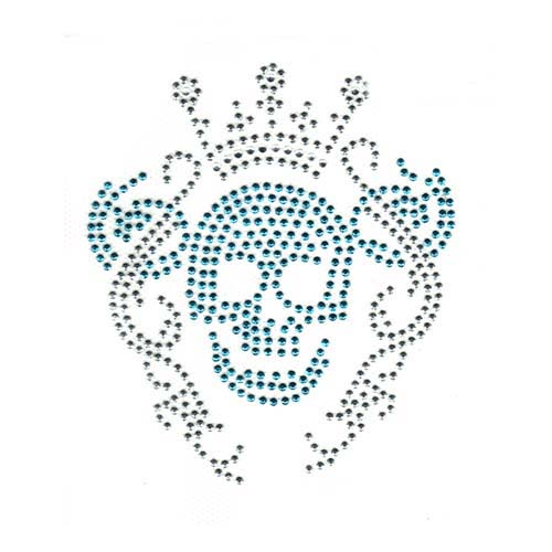 S2867C - SKULL WITH CROWN BLUE