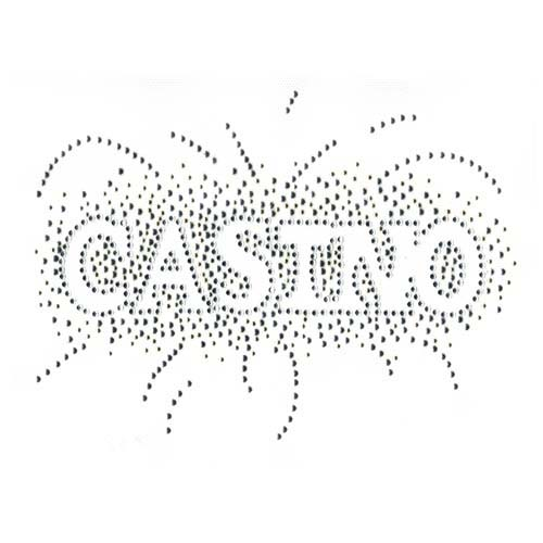 S3383 - CASINO silver & crystal outline